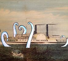 Isaac Newton Octopus and Ship by taxdollars
