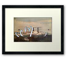 Isaac Newton Octopus and Ship Framed Print