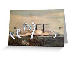 Isaac Newton Octopus and Ship Greeting Card