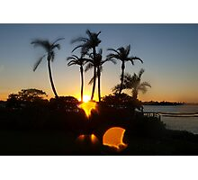Skipping sunset Photographic Print