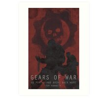 Gears of War Game Poster Art Print