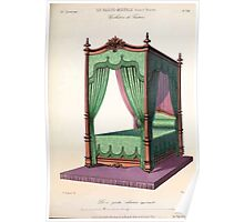 Le Garde Meuble Desire Guilmard 1839 0255 High Style Bed and Window Hanging Interior Design Poster