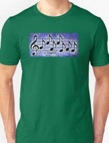 NAMASTE - Words in Music Purple Background - V-Note Creations Unisex T-Shirt