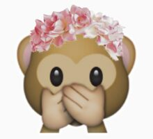 Speak No Evil - Monkey Emoji by goodgirlfaith