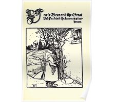 The Wonder Clock Howard Pyle 1915 0309 Uncle Bear and the Great Red Fox visit the Farmer's Store House Poster