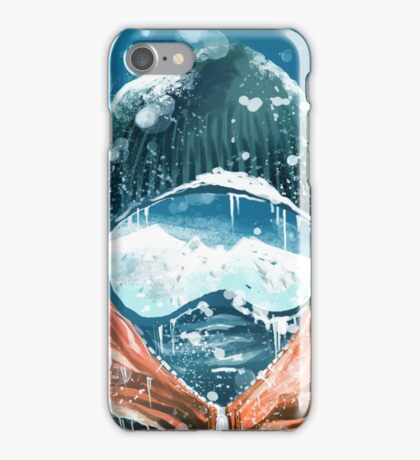 climber in the everest iPhone Case/Skin