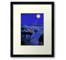 Piano au clair de lune - Moonlight piano Framed Print