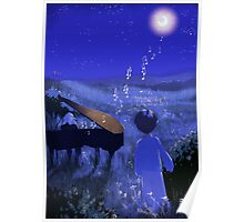 Piano au clair de lune - Moonlight piano Poster