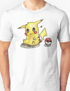 Cute Pikachu Watercolor T-Shirt