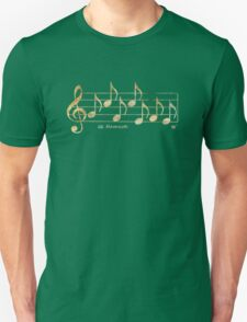 NAMASTE - Words in Music - Blue -  V-Note Creations Unisex T-Shirt