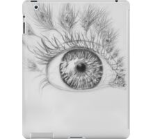 peacock lashes  iPad Case/Skin