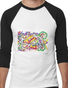 Ecstatic Dancers Men's Baseball ¾ T-Shirt