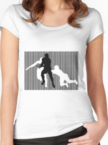 Rugby Tackle 2 Women's Fitted Scoop T-Shirt