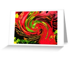 Fabulous Whirl  of Colours Greeting Card