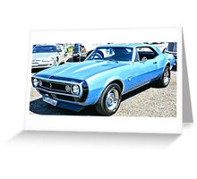 Chevy Camero Muscle Car Greeting Card