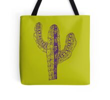 Purple Zen Cactus Tote Bag