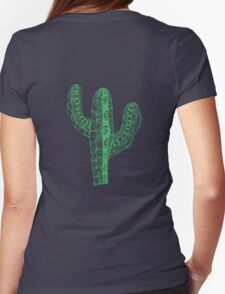 Zen Cactus Womens Fitted T-Shirt