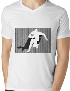 Rugby Tackle Mens V-Neck T-Shirt