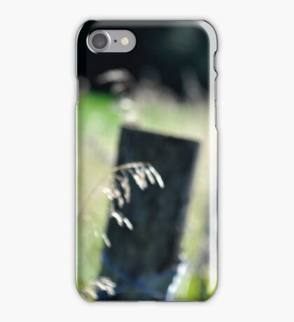 fence post #2 iPhone Case/Skin