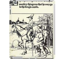 The Wonder Clock Howard Pyle 1915 0249 The Three Rogues Lend Casper Sundry Things That He May Go to the King's Castle iPad Case/Skin