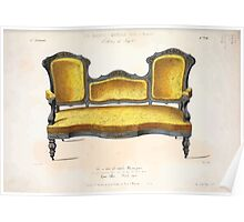 Le Garde Meuble Desire Guilmard 1839 0009 High Style Seat Furniture Interior Design Poster