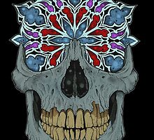 Stained Glass Skull by mdcindustries