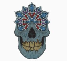 Stained Glass Skull One Piece - Long Sleeve