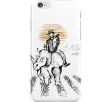 Pedestrian and Rhino iPhone Case/Skin