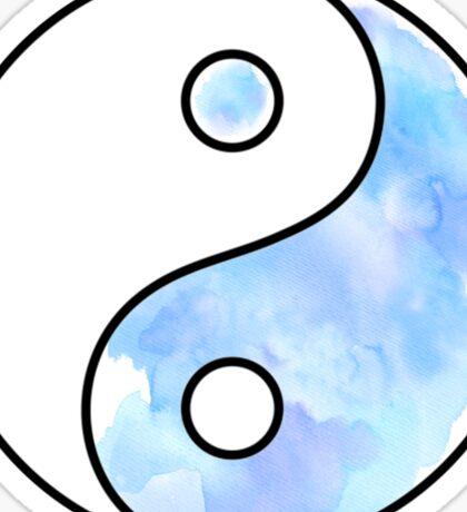Watercolor Yin Yang Sticker