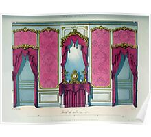 Le Garde Meuble Desire Guilmard 1839 0133 High Style Bed and Window Hanging Interior Design Poster