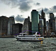City lights & cruising the East Side River - NYC by Poete100