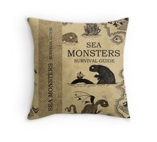 Sea Monsters Survival Guide Throw Pillow