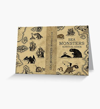 Sea Monsters Survival Guide Greeting Card