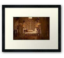 The White Velvet Sofa Framed Print