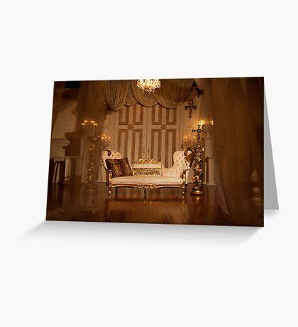 The White Velvet Sofa Greeting Card