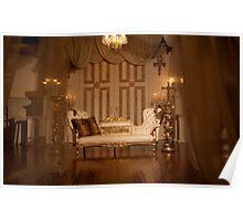 The White Velvet Sofa Poster