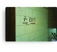 The 7th Floor Exit  Canvas Print