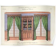 Le Garde Meuble Desire Guilmard 1839 0293 High Style Bed and Window Hanging Interior Design Poster