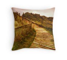 Sand Dunes (West Beach Littlehampton) Throw Pillow