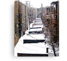 Back Yard Uban Winter Canvas Print