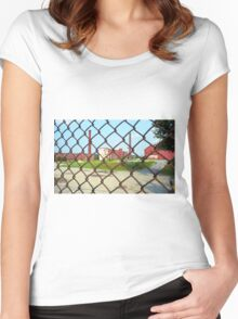 Lowell, Massachusetts - Factory Women's Fitted Scoop T-Shirt
