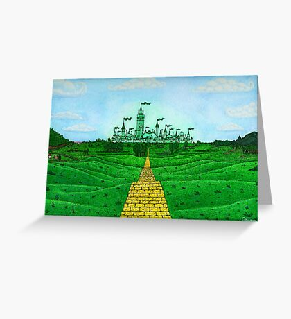 Emerald City Landscape by Kevenn T. Smith Greeting Card