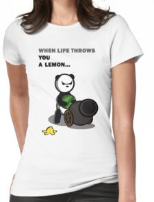 Panda Problems Resolved Womens Fitted T-Shirt