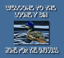 WELCOME TO THE LOONEY BIN>>HOME FOR THE UNUSUAL>>PILLOWS-JOURNAL-TOTE BAG-BOOK-TEE SHIRTS ECT.. by ✿✿ Bonita ✿✿ ђєℓℓσ