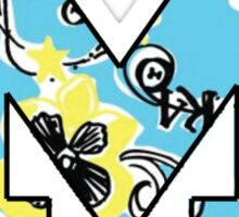 Theta Lilly Block M  Sticker