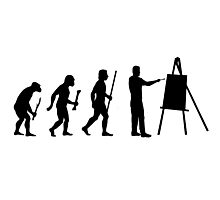 Evolution of Man and Art Photographic Print