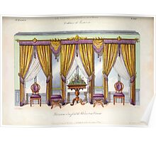 Le Garde Meuble Desire Guilmard 1839 0203 High Style Bed and Window Hanging Interior Design Poster