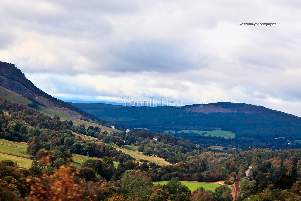 Rolling Hills (On the A9, Scotland, UK.) by Yannik Hay