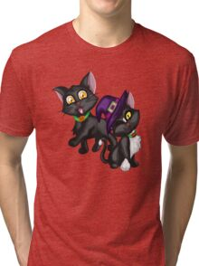 Halloween Kittens Tri-blend T-Shirt