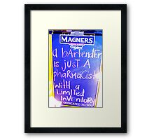 modern marketing Framed Print